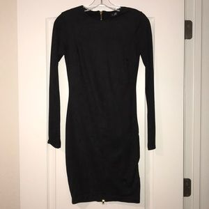 Luz LA Long Sleeve Black Velvet Dress